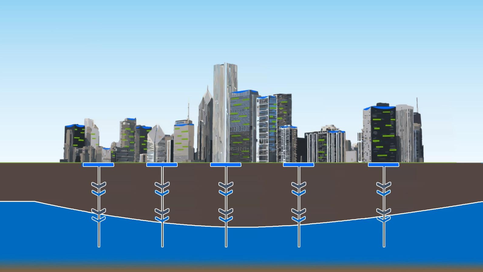 Hanging Water Tank render
